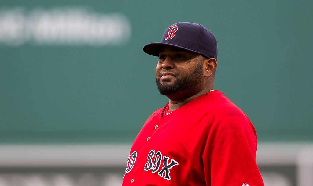 Pablo Sandoval of the Boston Red Sox walks to the dugout before a game against the Detroit Tigers at Fenway Park on July 24, 2015 in Boston, Massachusetts.