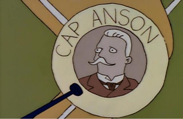 "Cap Anson on ""The Simpsons"""