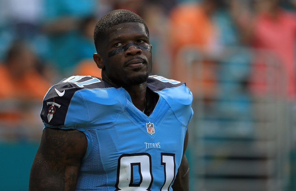 Andre Johnson has experienceda great NFL career | Mike Ehrmann/Getty Images