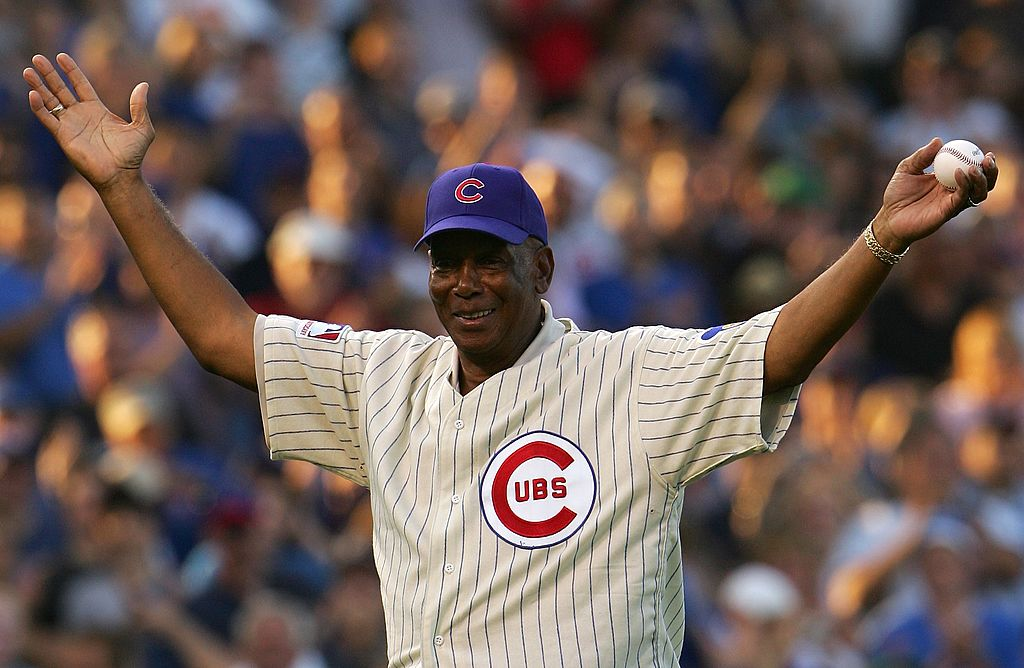 Baseball Hall of Famer and former Chicago Cub Ernie Banks