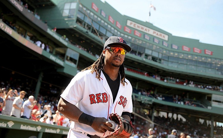BOSTON, MA - SEPTEMBER 17: Hanley Ramirez #13 of the Boston Red Sox takes the field for warm up prior to the game against the New York Yankees at Fenway Park on September 17, 2016 in Boston, Massachusetts. The Red Sox won the game 6-5.