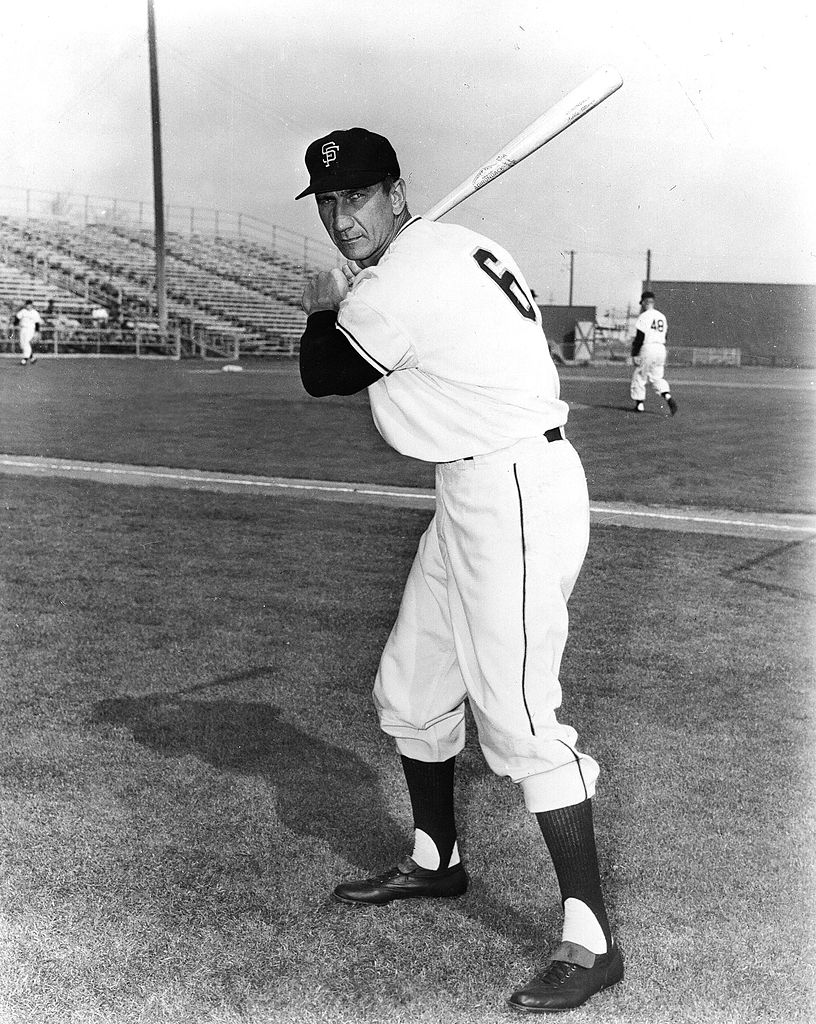 Baseball player Hank Sauer of the San Francisco Giants