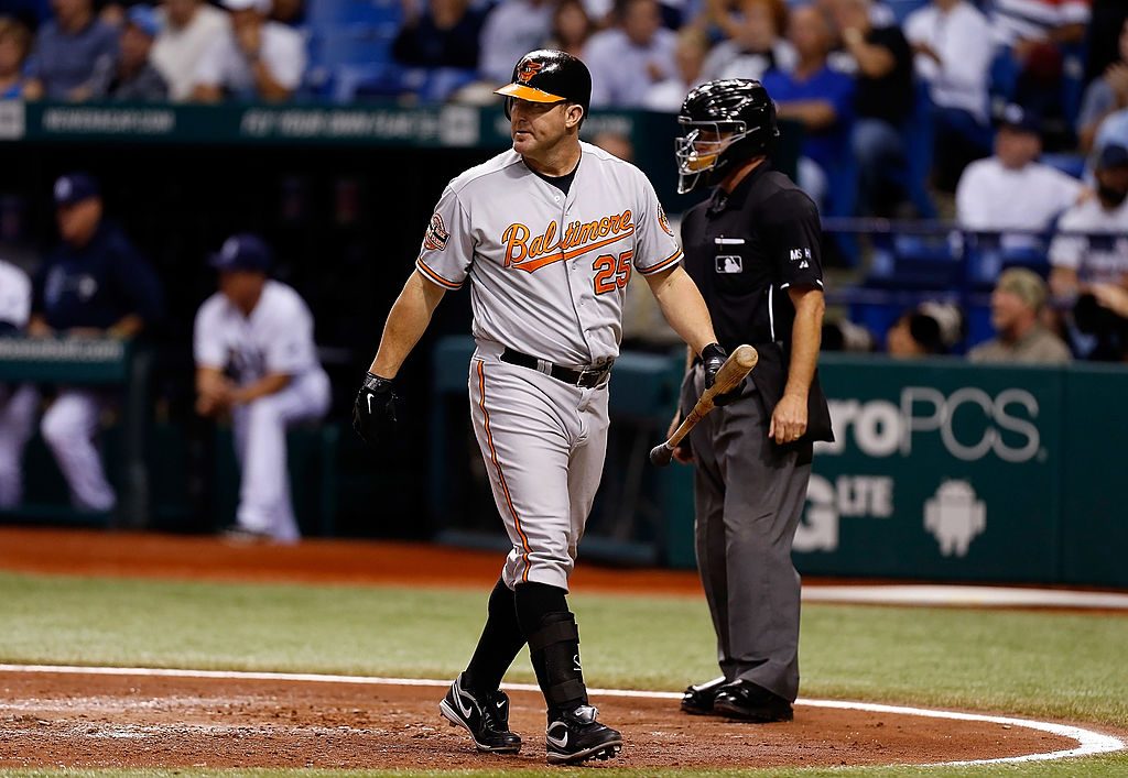 Designated hitter Jim Thome #25 of the Baltimore Orioles