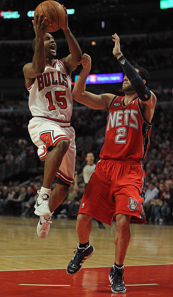 John Lucas II of the Chicago Bulls goes for a layup.
