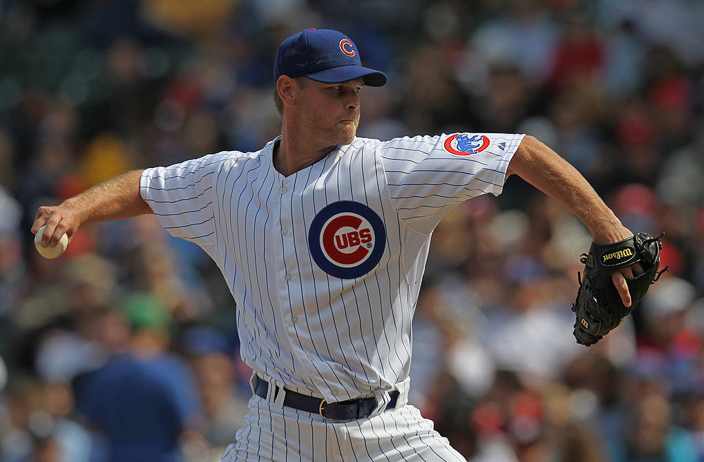 Kerry Wood #34 of the Chicago Cubs