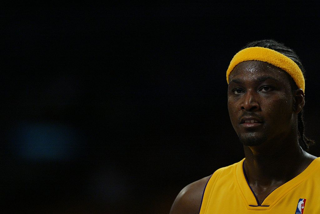 Kwame Brown #54 of the Los Angeles Lakers