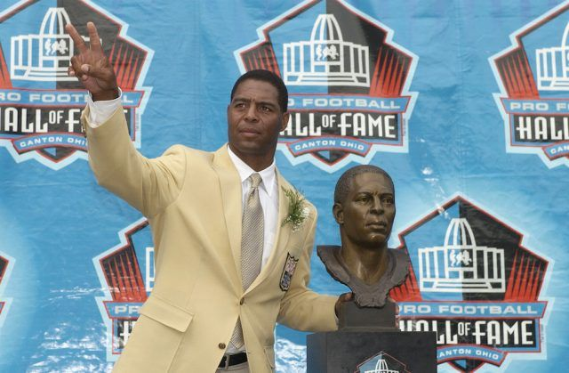 Marcus Allen being inducted into the Hall of Fame