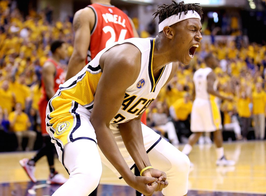 Myles Turner is pumped | Andy Lyons/Getty Images