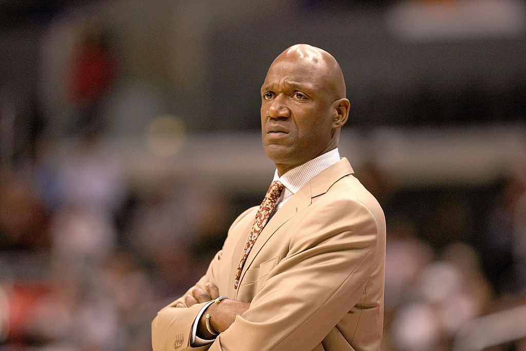 Head coach Terry Porter of the Phoenix Suns watches the action.