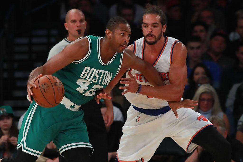 Al Horford (L) and Joakim Noah are better together than they are apart | Michael Reaves/Getty Images