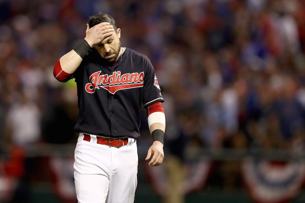 The Cleveland Indians lose the World Series and walk off the field.
