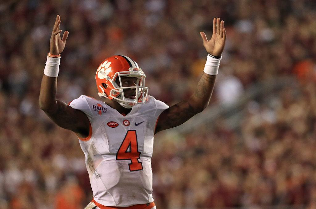 Deshaun Watson has Clemson thinking championship | Mike Ehrmann/Getty Images