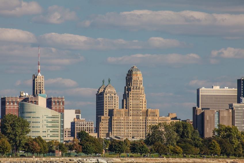 Downtown Buffalo from Ft. Erie near the Peace Bridge