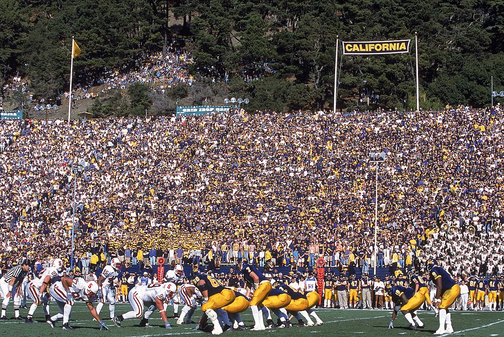 A general view of the Memorial Stadium in Berkeley, California during the game between the California Bearsand the Stanford Cardinal