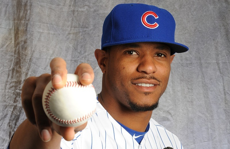 Edwin Jackson of the Chicago Cubs poses for a portrait during Photo Day