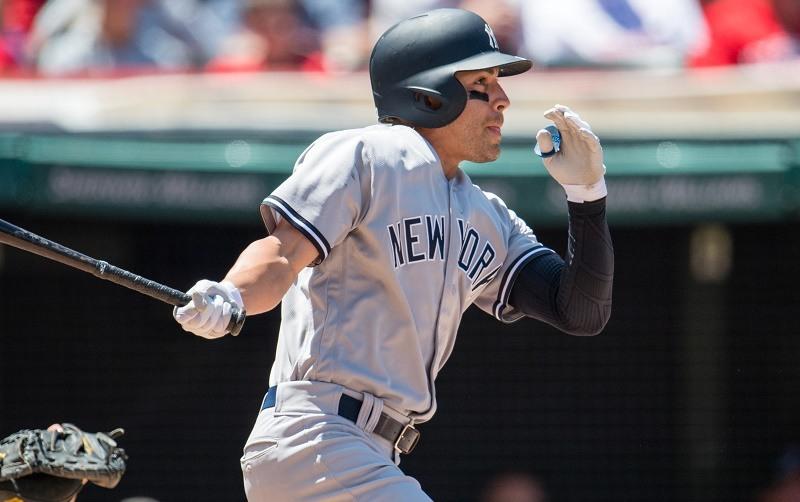 Jacoby Ellsbury of the New York Yankees hits a three run home run