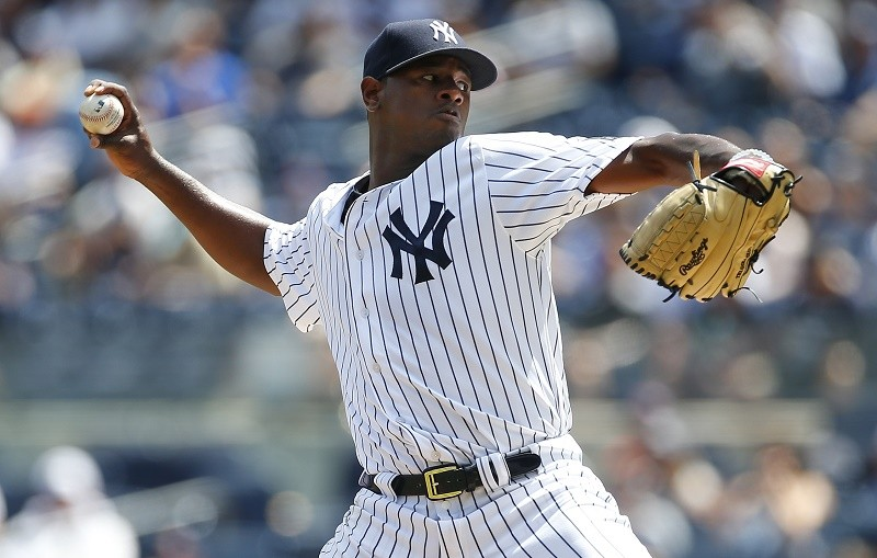 Luis Severino pitches hard and fast.