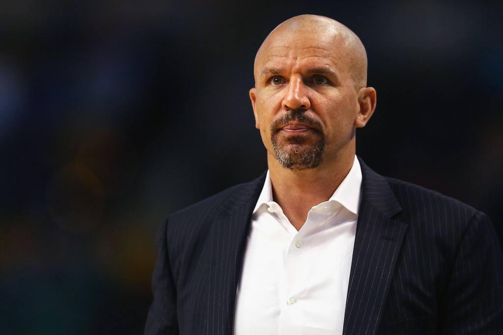 Bucks coach Jason Kidd looks on in disappointment
