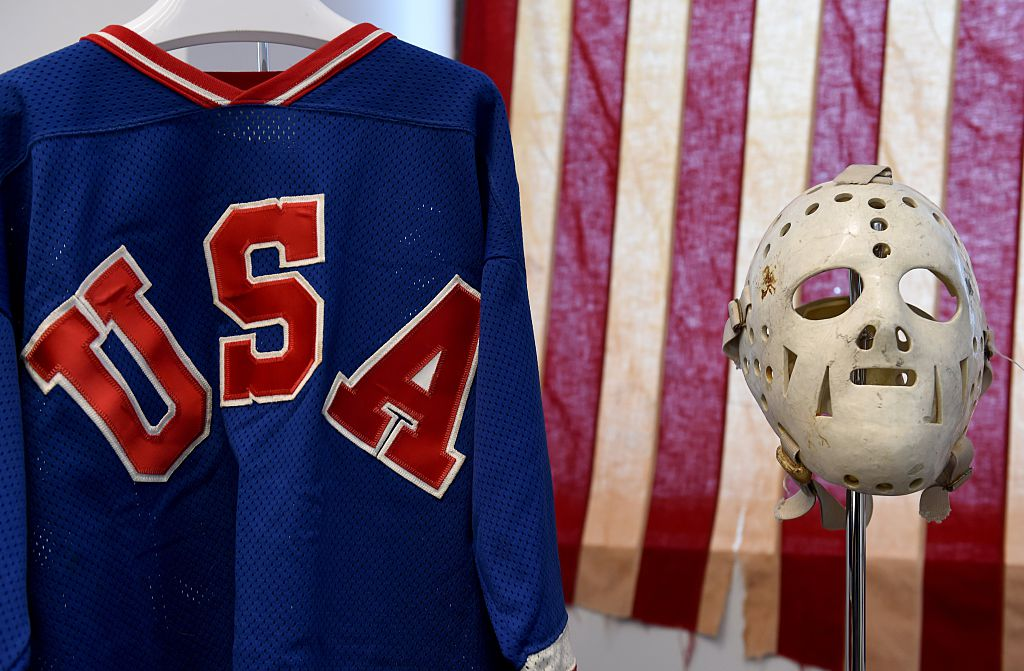 Some of the items from the US Olympic 'Miracle on Ice' from the 1980 US Winter Olympic games