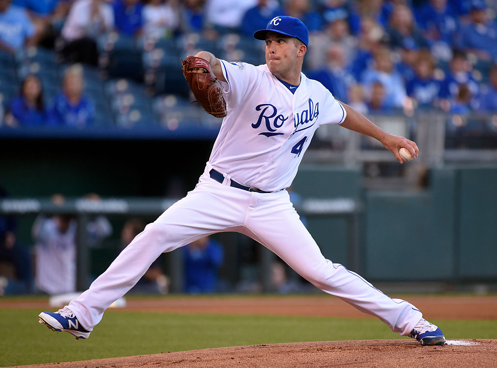 Danny Duffy of the Kansas City Royals pitches.