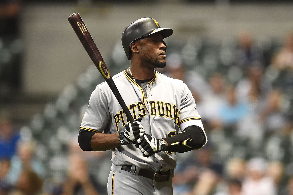 Starling Marte #6 of the Pittsburgh Pirates