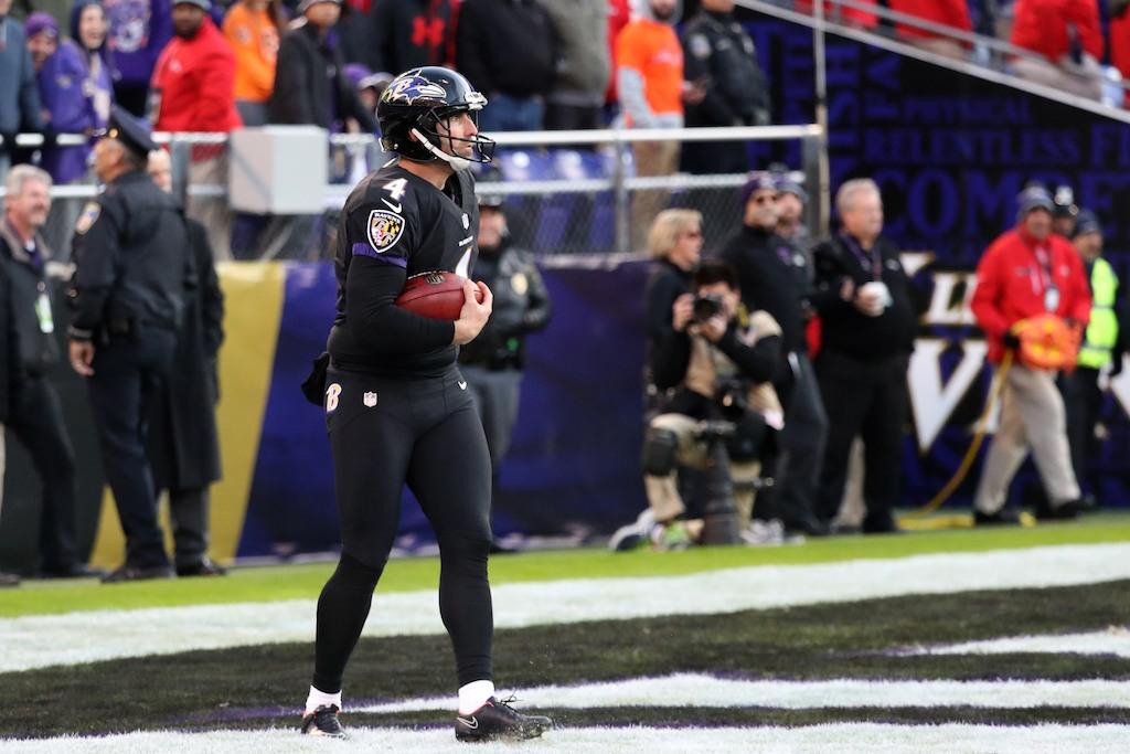Ravens punter Sam Koch