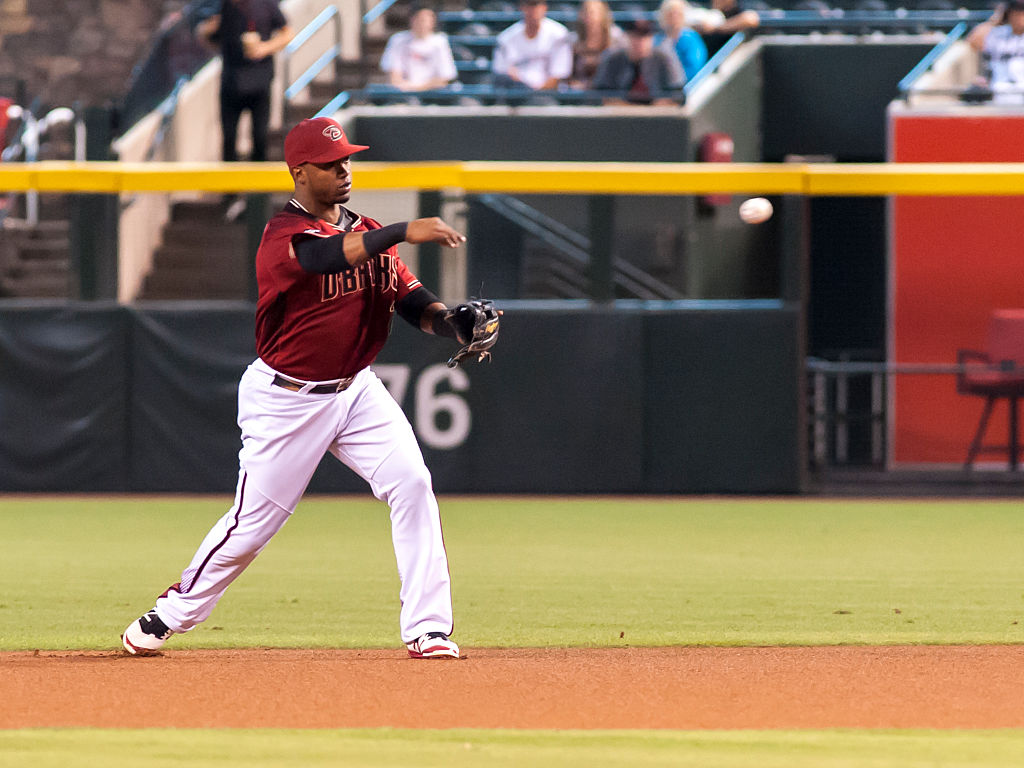 Jean Segura #2 of the Arizona Diamondbacks