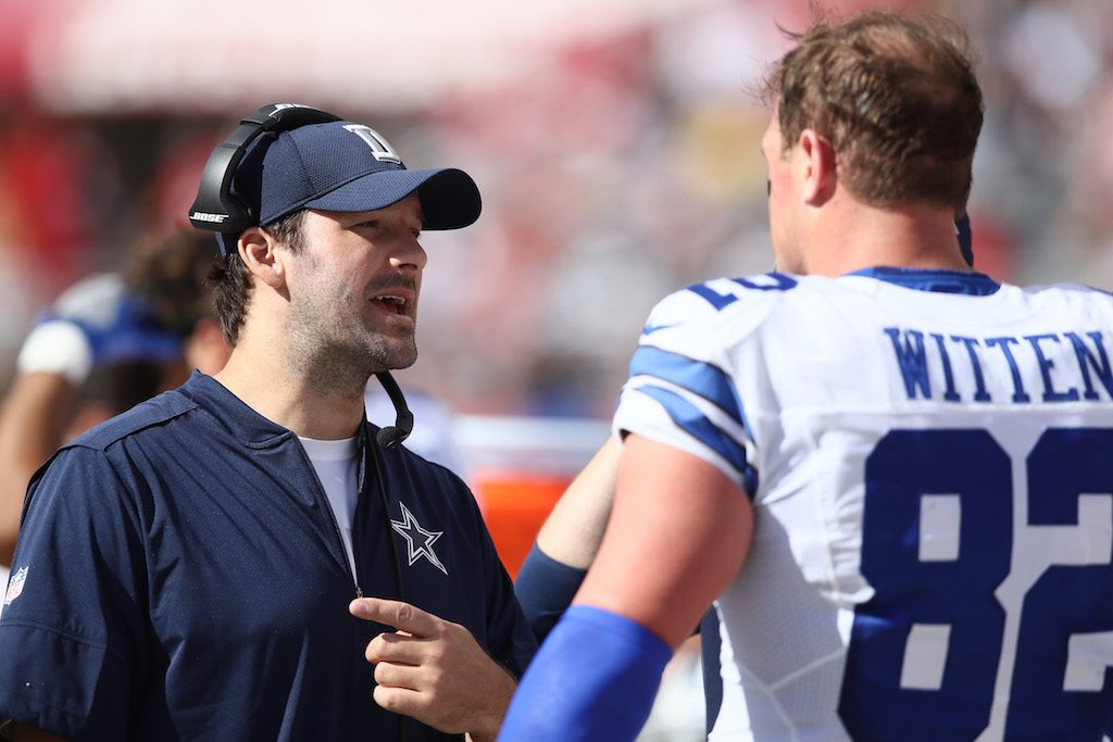 Tony Romo will continue to help the Cowboys any way he can | Ezra Shaw/Getty Images