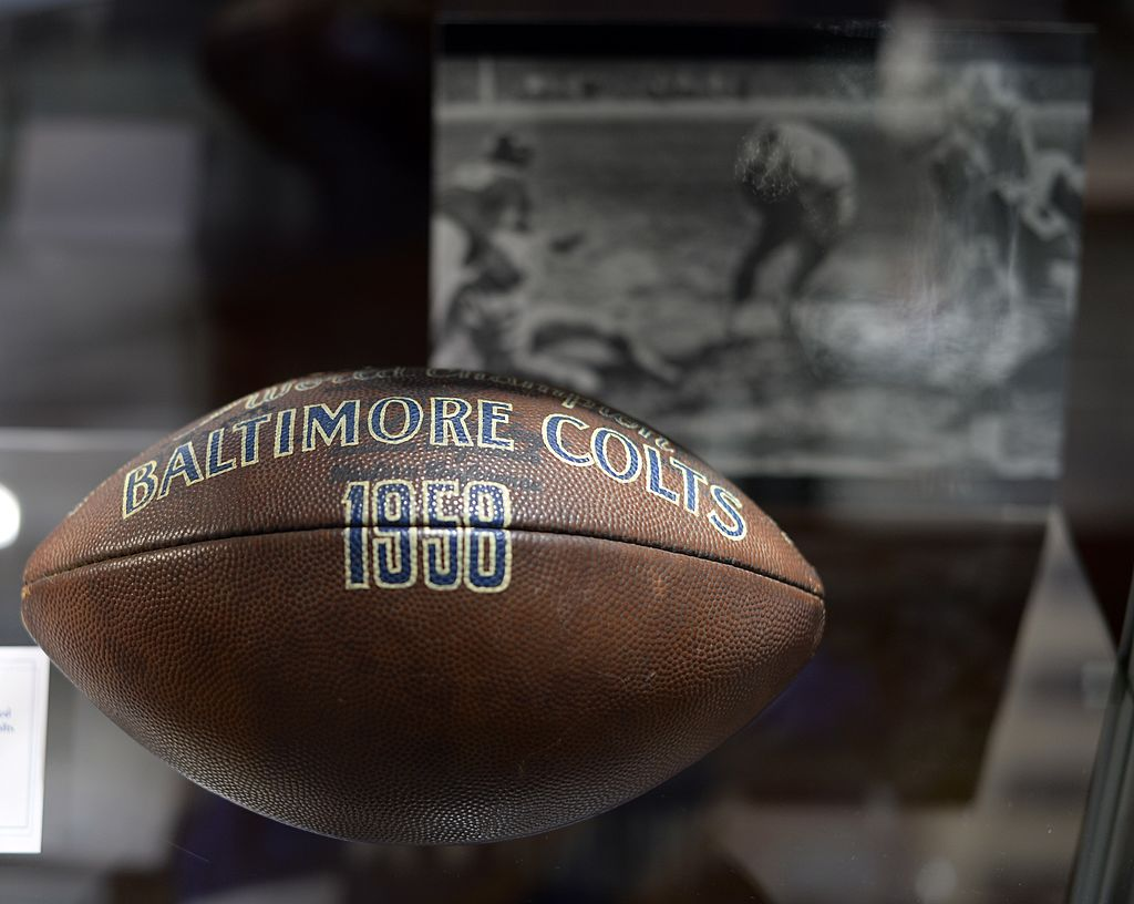1958 NFL Championship Game Used Football from Estate of Baltimore Colts