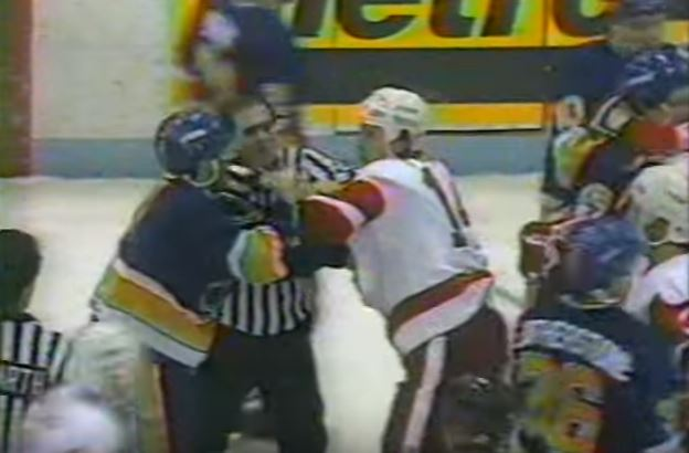 A 1991 fight between the Detroit Red Wings and St. Louis Blues