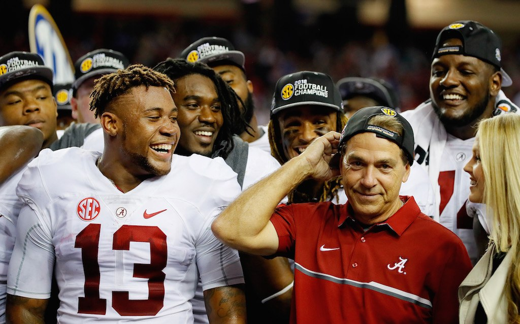 Nick Saban has the Alabama Crimson Tide rolling into the College Football Playoff