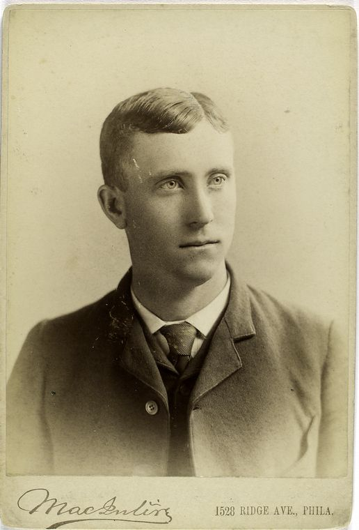 Portrait of former pitcher Cannonball Titcomb