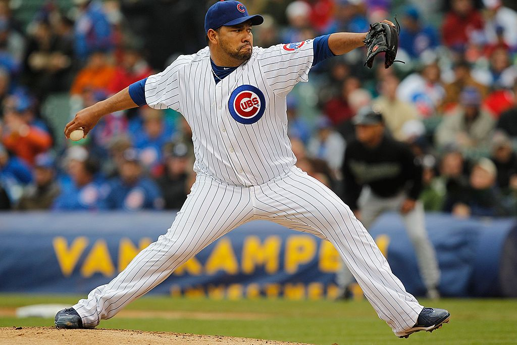 Pitcher Carlos Silva of the Chicago Cubs