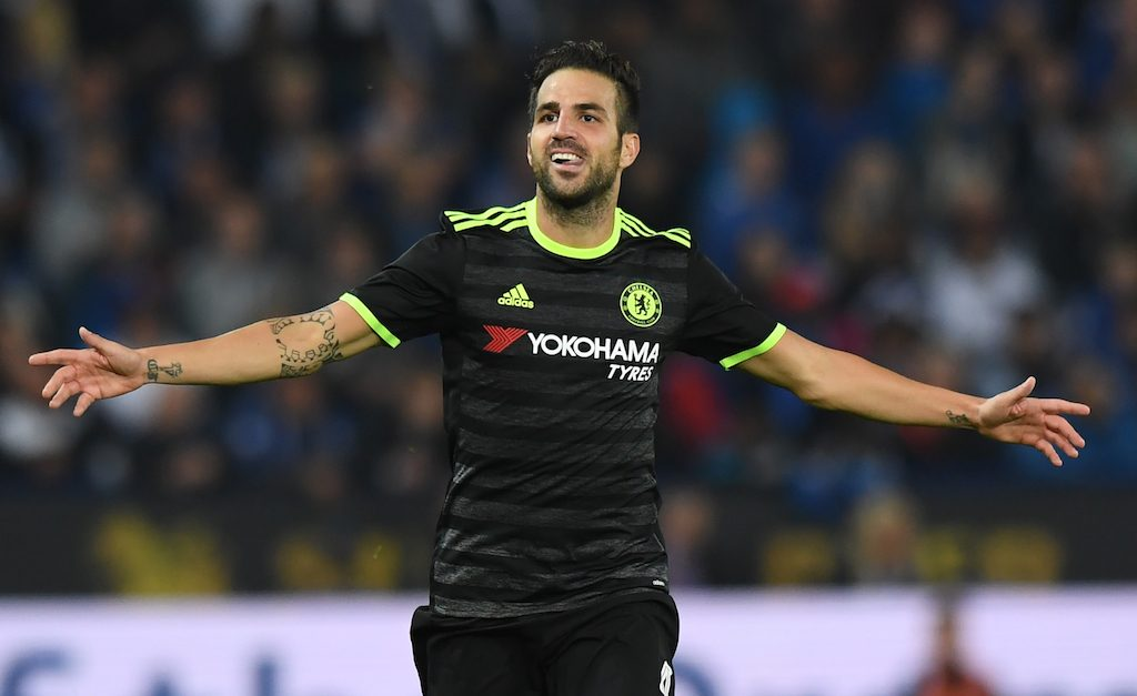 Cesc Fabregas has reason to celebrate | ANTHONY DEVLIN/AFP/Getty Images