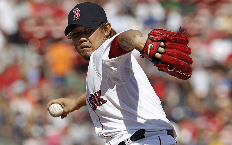 Daisuke Matsuzaka of the Boston Red Sox pitches against the Washington Nationals