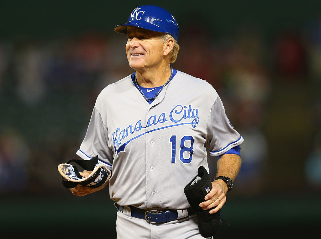 Coach Rusty Kuntz of the Kansas City Royals
