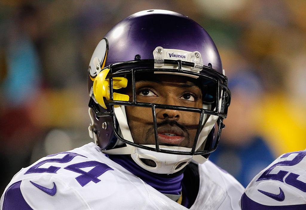 Captain Munnerlyn #24 of the Minnesota Vikings