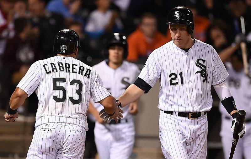 Todd Frazier and Melky Cabrera celebrate a play