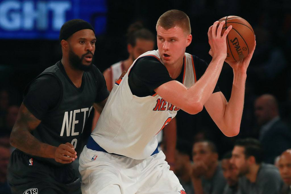 Kristaps Porzingis can do it all | Michael Reaves/Getty Images