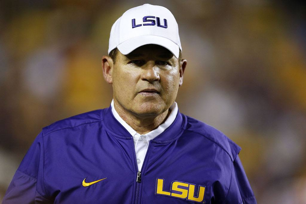 Les Miles would be a great hire for Houston | Jonathan Bachman/Getty Images