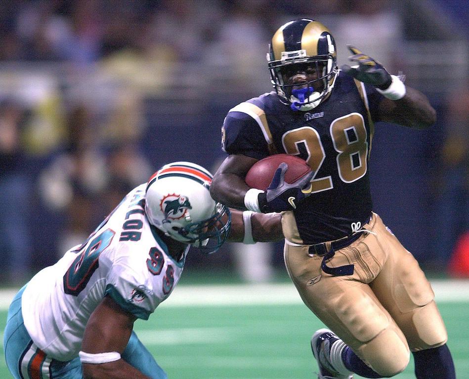 Marshall Faulk for the Rams