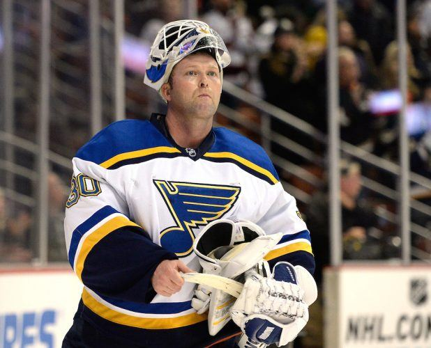 It's hard seeing Martin Brodeur in a Blues uniform | Harry How/Getty Images