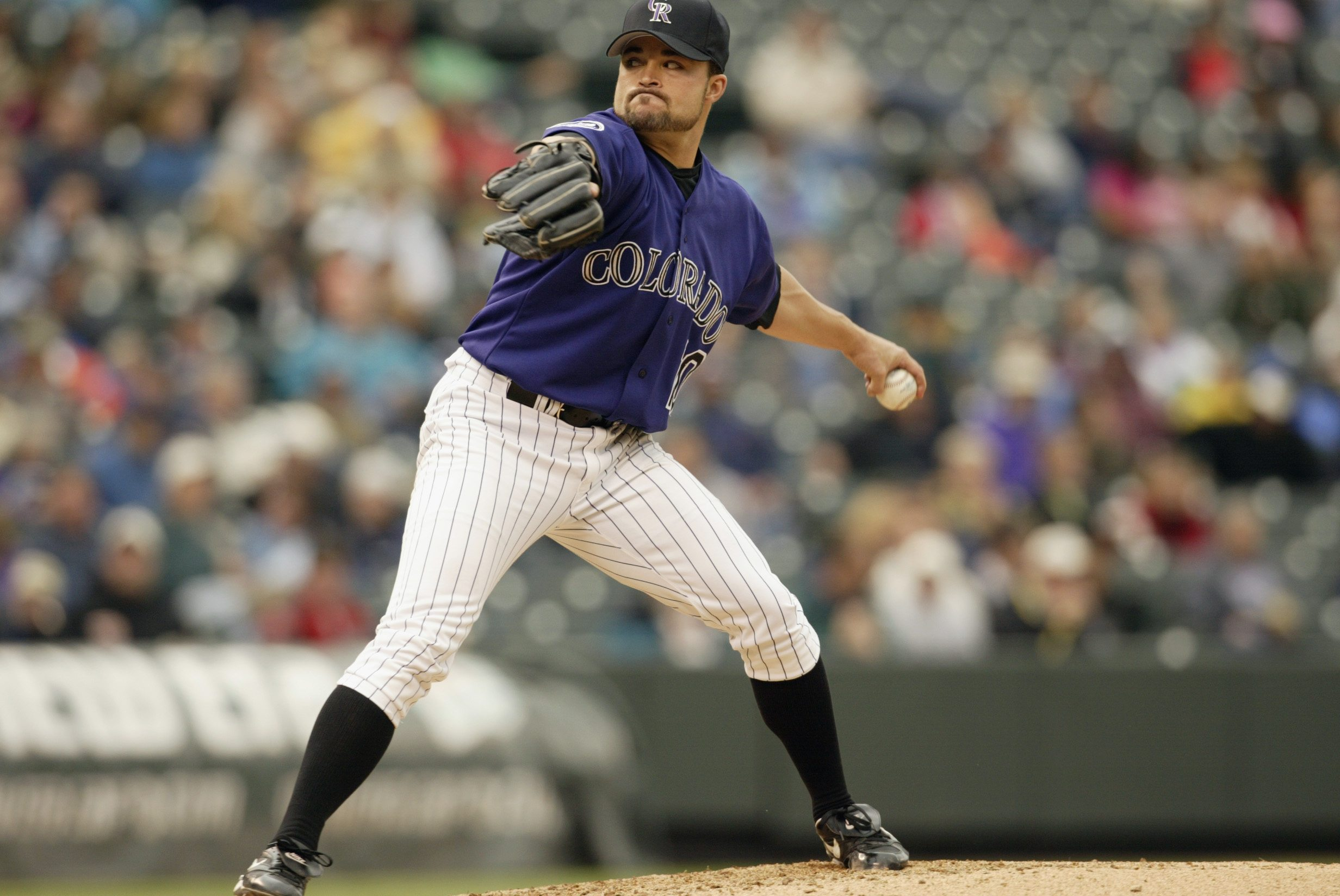 Pitcher Mike Hampton of the Colorado Rockies