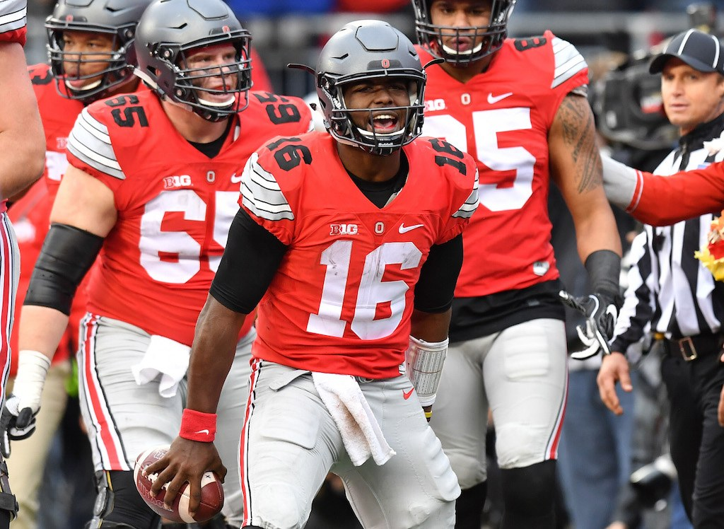 J.T. Barrett #16 and the Ohio State Buckeyes are ready for the playoff
