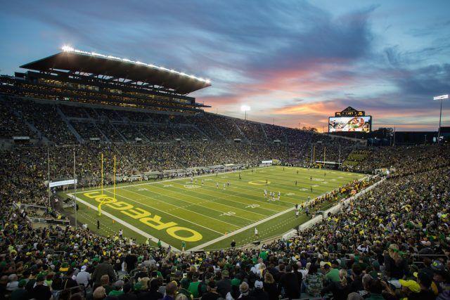 It gets loud at Autzen Stadium | Otto Greule Jr/Getty Images