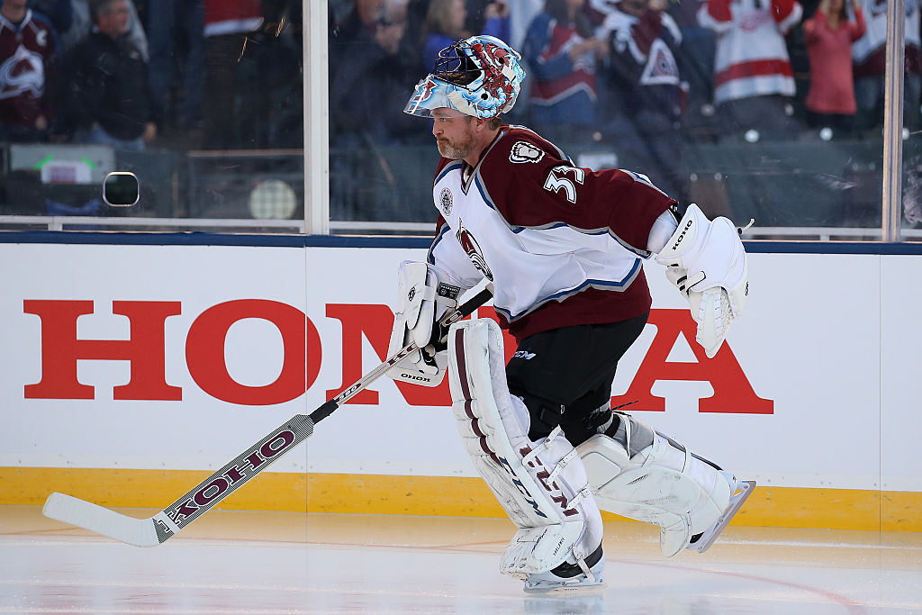 Patrick Roy #33 of the Colorado Avalanche