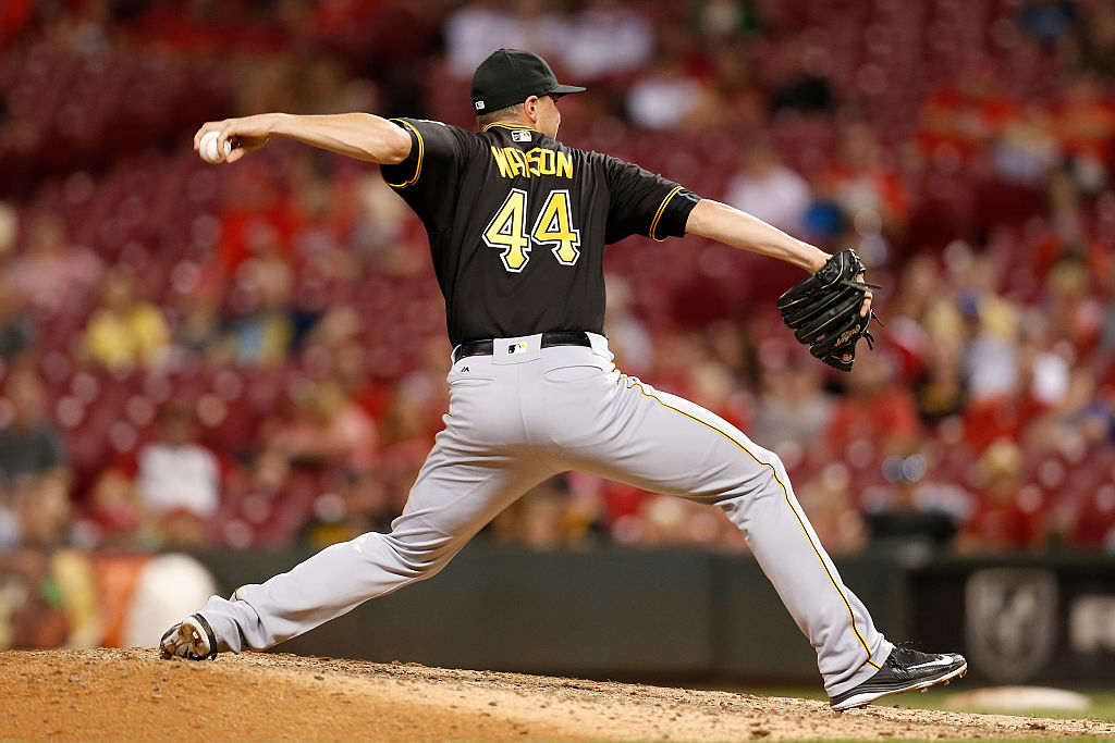Tony Watson pitching for the Pittsburgh Pirates.