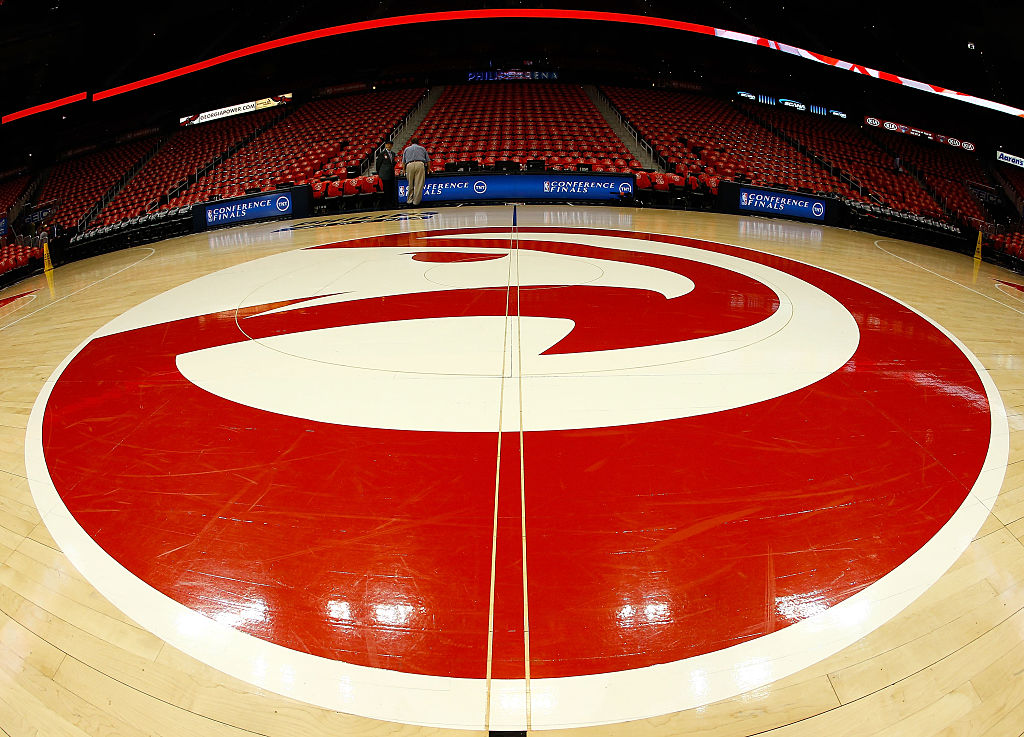 A view of center court before Game Two of the Eastern Conference Finals