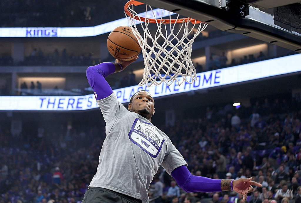 Ben McLemore of the Sacramento Kings goes for the dunk.