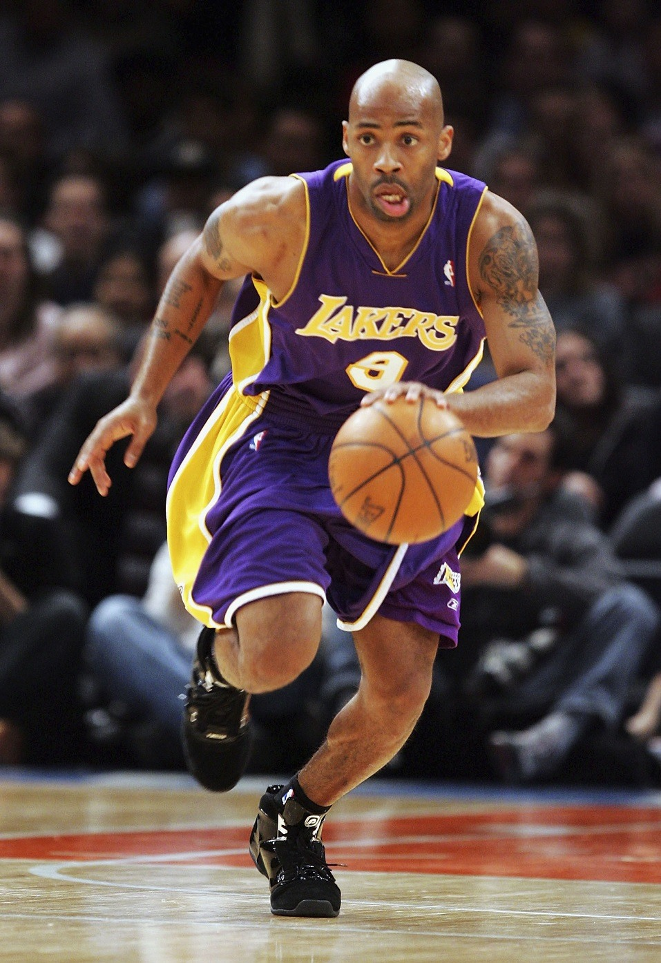 Chucky Atkins #9 of the Los Angeles Lakers